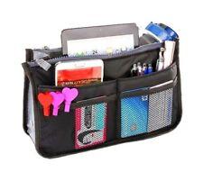 GRAU Handtaschen,Innentasche,Organizer mit 13 Fächern, Kosmetik Tasche NEU