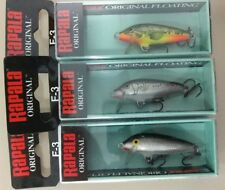 RAPALA original Floating  F3-S, F3-SSM, F3-FMN lote 3 Rapala - lot 3 lures