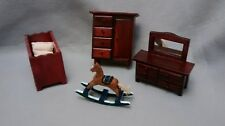 Lot of Wooden Dollhouse Miniature Furniture