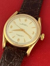 VINTAGE 1950'S ROLEX 14K YELLOW GOLD OYSTER PERPETUAL MODEL 6090 - RUNS