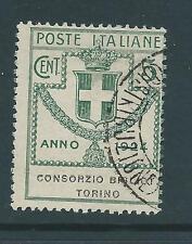 ITALIA 1924 TORINO 5c USATO SASS 30 GATTO E80 Nizza