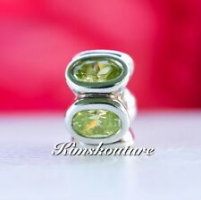 Authentic Pandora Oval Lights, Lime CZ STERLING SILVER BEAD Charm 790311CZL
