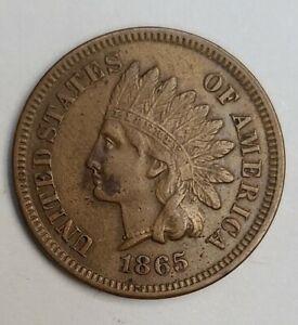 US 1865 Clashed Dies Error Indian Head Cent (Invt226)