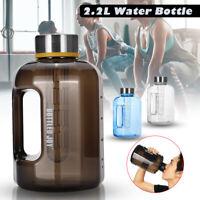 2.2L Large Sport Gym Training Bottle Water Bottle BPA Camping Drink Cap Kettle