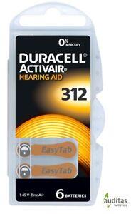 60 Duracell ActivAir - Hörgerätebatterien, Hearing Aid Batteries Typ 312 MF NEU