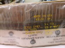 Allen-Bradley RC42GF272J 2.7k  2watt 5% Carbon Comp Resistor  25pc
