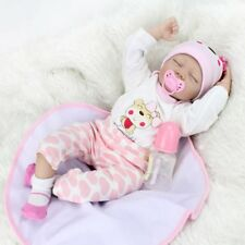 SLEEPING NEWBORN BABY GIRL REALISTIC REBORN DOLL FLOPPY HAIR CHILD BIRTHDAY GIFT