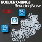 120X Silicone Rubber O-Ring Switch Dampeners White For Cherry MX Keyboard