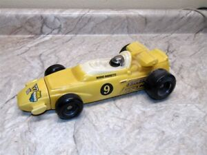 Indy 500 Mario Andretti Race Car Whiskey Decanter Number 9 Vintage Yellow Boston