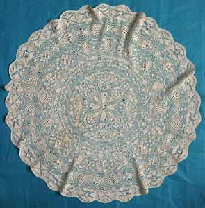 Antique cotton Maltese lace parasol cover