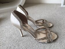 DUNE High Heel Sandals Leather Snake Effect Evening Party Shoes Size EUR 39 UK 6