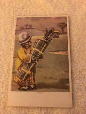 Black Americana Postcard Caddy. Comic Card