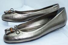 New Gucci Shoes Ballet Flats Size 40.5 Sasso Nappa Bronze Women's Ballerina