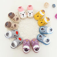 Newborn Baby Kid Girl Boys Cartoon Anti-Slip Sock Soft Slipper Shoes Boots Socks