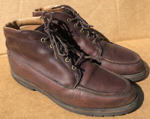 C.C. Filson Uplander Chukka Hiking Boots Brown Leather Shoes Vibram 11.5 D