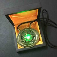 1:1 LED Light Dr. Doctor Strange Pendant Eye Of Agamotto Necklace Prop Cosplay