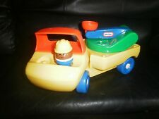 Lot 2 Vintage Little Tikes Cherry Picker Truck Construction Figure Great Used Co