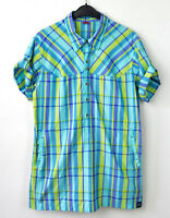 HAGLOFS Women's CLIMATIC Shirt Medium Checked Recycled Polyester Walking Top M