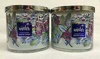 2 Bath & Body Works WINTER 3-Wick Scented 14.5 oz Candle