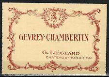 Etiquette de Vin - Bourgogne -Gevrey-Chambertin - Chateau De Brochon - Réf.n°222