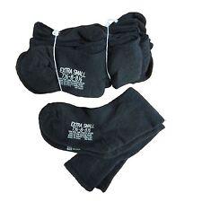 12  Pr Blk US Military Wool Blend Cushion Sole Socks Fit to Man Sz 7.5 Woman 8.5