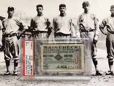 1912 World Series Ticket Game 6 Boston New York Mathewson Smokey Joe Wood