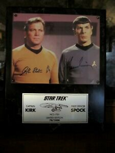 Star Trek - Kirk and Spock - signed photograph