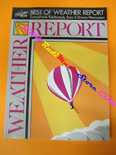 spartito WEATHER REPORT Best of 1989 saxophone keyboards bass no cd lp mc dvd