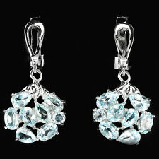 Natural SKY BLUE TOPAZ MIXED SHAPE Sterling 925 Silver EARRINGS