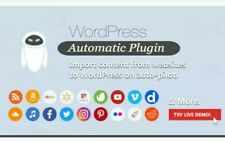 WordPress Automatic Plugin scrap websites RSS Import posts on autopilote to wp