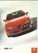 ALFA ROMEO 147 1.6/2.0 TWIN SPARK SALE BROCHURE OCTOBER 2000 FOR 2001 MODEL YEAR