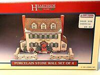 "Vintage 1991 Hearthside Village Porcelain ""Stone Wall Set of 4""  Brand New"