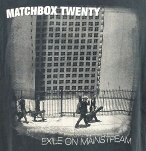 Matchbox Twenty Exile On Mainstream Tour 2008 Concert T-shirt Men's Sz L Tee A03