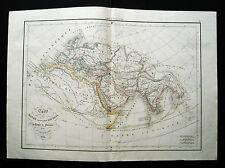 1847cFROM DELAMARCHE ATLAS: MONDO CONOSCIUTO DAGLI ANTICHI-PTOLOMEO.ETNA TITTIO