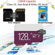 Micro SD / TF Card Class 10 Flash Memory SDHC SDXC 128GB - 80MB/S & Adapter