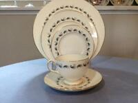 Wedgwood Stardust bone china FIVE piece place setting R4292
