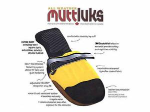 New Original All Weather Muttluk Dog Boots, Small, Yellow