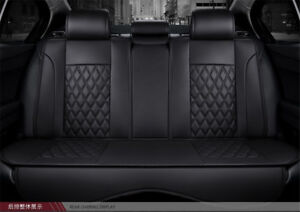 Black Car  Seat Cover PU Leather Protector Cushion 3D Full Surrounded Full Set