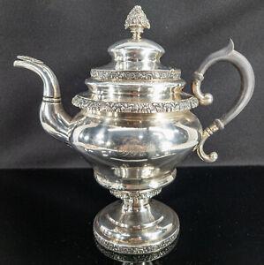 Antique American New York City Coin Silver Teapot Pitcher Gerardus Boyce