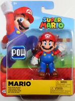 World of Nintendo ~ MARIO w/POW BLOCK (WAVE 18) ACTION FIGURE ~ Super Mario Bros