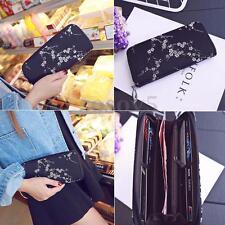 Women Lady Leather Clutch Long Wallet Card Holder Purse Floral Handbag Phone Bag