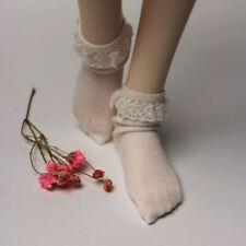 1/4 BJD White Socks Stockings for SD DOD MSD  Doll Clothing Accessory