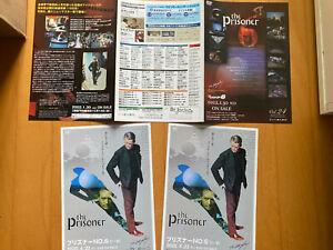 The PRISONER Japan MINT flyer-poster x3 2005 DVD box set Patrick McGoohan No.6