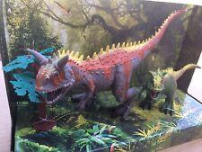 Carnotaurus Dinosaur Collection 3 Piece Set - Two Dinosaurs & 1 Tree