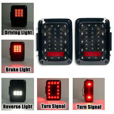 Pair Auto Led Tail Lights Led Lamps With Brake for Jeep Wrangler Jk 07~16 Usa