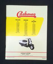 "The Highlander/"" E Cushman Reproduced Booklet  /""Your New Cushman"