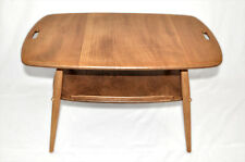Vintage retro 60's Ercol ercol butler tray coffee side table with magazine rack