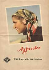 Prospekt  AGFACOLOR Mitteilungen VEB Filmfabrik Agfa Wolfen 1953 ( 2143