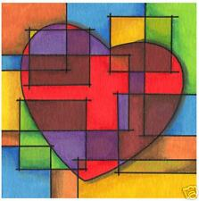 Heart Facets by todd v modern abstract cubist art