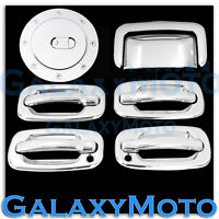 GMC Yukon+XL Triple Chrome 4 Door handle+W/PSG Keyhole+Tailgate+Gas Cover SUV